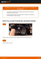 Come cambiare pinza de freno della parte anteriore su VW Golf 4 - Guida alla sostituzione