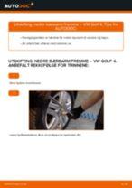 DIY-manual for utskifting av Bærebru i VW GOLF 2020