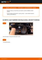 VW GOLF Jarrupääsylinteri vaihto: ohjekirja