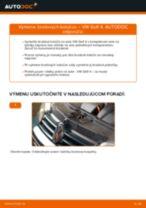 Ako vymeniť a regulovať Brzdový kotouč VW GOLF: sprievodca pdf