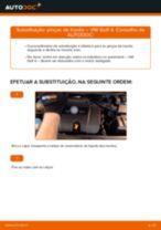 Como mudar pinças de travão da parte dianteira em VW Golf 4 - guia de substituição