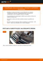 Mudar Discos de Travão VW GOLF: manual técnico