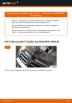 Mudar Pastilhas De Travão VW GOLF: manual técnico