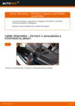 Hátsó féknyereg-csere VW Golf 4 gépkocsin – Útmutató