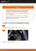 Elülső féktárcsák-csere VW Golf 4 gépkocsin – Útmutató