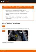 Kā nomainīt: priekšas bremžu diskus VW Golf 4 - nomaiņas ceļvedis