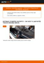 Kaip pakeisti VW Golf 4 stabdžių suporto: galas - keitimo instrukcija