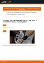 Kaip pakeisti ir sureguliuoti Vikšro Valdymo Svirtis VW GOLF: pdf pamokomis