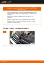 Kaip pakeisti VW Golf 4 stabdžių diskų: galas - keitimo instrukcija