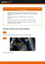 Kaip pakeisti VW Golf 4 stabdžių diskų: priekis - keitimo instrukcija