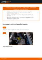 Kaip pakeisti VW Golf 4 stabdžių trinkeliu: priekis - keitimo instrukcija