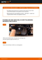 Ratschläge des Automechanikers zum Austausch von VW Golf 5 1.6 Bremssattel