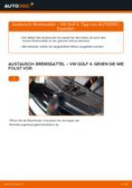 Wie Bremszange VW GOLF austauschen und anpassen: PDF-Anweisung