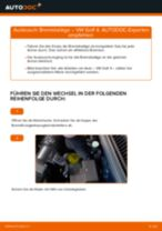 Wie Bremsklötze VW GOLF austauschen und anpassen: PDF-Anweisung