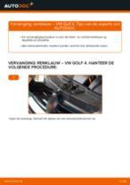 Hoe remklauw achteraan vervangen bij een VW Golf 4 – Leidraad voor bij het vervangen