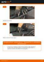 Comment changer Jeu de balais d'essuie-glace arrière et avant RENAULT CLIO III (BR0/1, CR0/1) - manuel en ligne