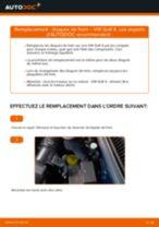 Comment changer : disques de frein avant sur VW Golf 4 - Guide de remplacement