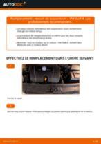 Comment changer : ressort de suspension avant - VW Golf 4 | Guide de remplacement