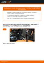 Sostituzione molle di sospensione fronte: VW Golf 5 | Istruzioni