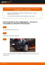 Sostituzione filtro carburante: VW Golf 5 | Istruzioni