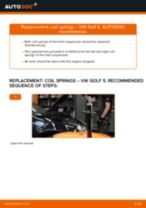 VW GOLF V (1K1) change Springs front left right: guide pdf