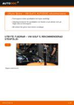 Hur byter man och justera Spiralfjädrar VW GOLF: pdf instruktioner