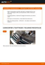 Veiledning på nettet for å skifte Bremseskiver i VW GOLF IV (1J1) selv