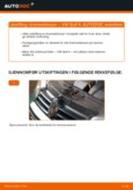 Skifte Bremseklosser VW GOLF: verkstedhåndbok