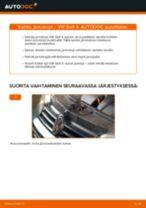 Kuinka vaihtaa ja säätää Etujarrulevyt ja takajarrulevyt VW GOLF: pdf-opas