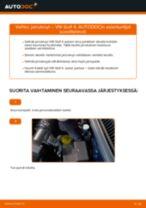 VW GOLF Jarrulevyt vaihto: ohjekirja