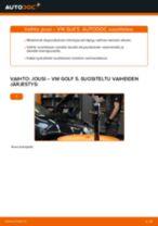 Kuinka vaihtaa ja säätää Kierrejousi VW GOLF: pdf-opas