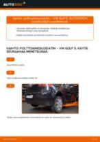 Ohje: VW Golf 5-auton polttoainesuodatin – vaihto