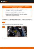 Jak wymienić i wyregulować Komplet klocków hamulcowych VW GOLF: poradnik pdf
