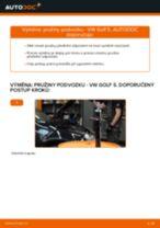 Výměna: přední pružiny podvozku >> VW Golf 5 | Návod