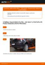 Výměna: palivového filtru >> VW Golf 5 | Návod