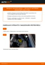 Kako zamenjati avtodel zavorne ploščice spredaj na avtu VW Golf 4 – vodnik menjave