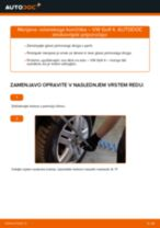 Menjava Konec jarmovega droga VW GOLF: spletni vodič