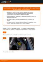 Mudar Discos de travagem Discos de freio VW faça você mesmo - manual online pdf