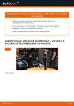 Como mudar: molas de suspensão da parte dianteira - VW Golf 5 | Guia de substituição
