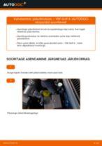Paigaldus Piduriklotsid VW GOLF IV (1J1) - samm-sammuline käsiraamatute