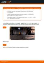 Paigaldus Vedrustus VW GOLF IV (1J1) - samm-sammuline käsiraamatute