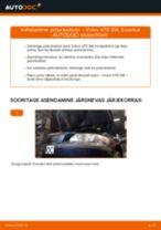 Kuidas vahetada Volvo V70 SW taga-piduriketaste – õpetus