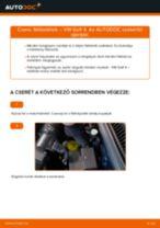 Elülső fékbetétek-csere VW Golf 4 gépkocsin – Útmutató