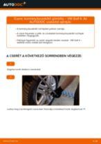 Kormányösszekötő gömbfej-csere VW Golf 4 gépkocsin – Útmutató