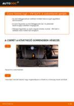 Útmutató: VW Golf 4 elülső futómű rugó – csere
