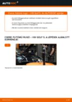 Útmutató: VW Golf 5 elülső futómű rugó – csere