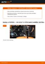 VW GOLF Piekare maiņa: bezmaksas pdf
