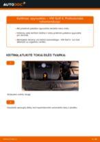 Instrukcija >> VW Golf 4: spyruoklės keitimas: priekis