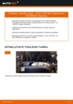 Kaip pakeisti Volvo V70 SW stabdžių diskų: galas - keitimo instrukcija