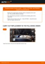 How to replace and adjust Deflection / Guide Pulley, timing belt VOLVO V70: pdf tutorial